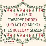 10 Ways to Conserve Energy (And Not Go Broke) This Holiday Season