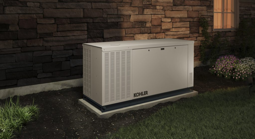 Kohler generator unit for residence